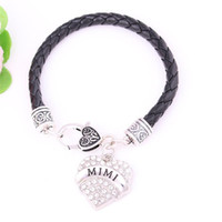 Charm Bracelets Arrived Elegant Women Jewelry Heart Bracelet MIMI Written With Sparkling Crystals Zinc Alloy Provide Drop