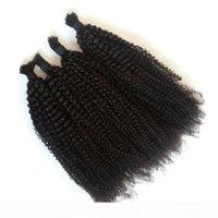 Kinky Cabelo Curly a granel para trança Mongólia Cabelo Humano Cor Natural Qualidade Superior Cabelo Bulk FShine