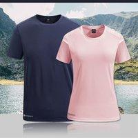 Grenzübergreifende direkte lieferung sommer paar kurzärmelige sport t-shirt herren große größe eis halbhülse t-shirt womens schnell trocknen eis seide g
