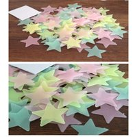 300pcs 3D Stars Glow In The Dark Wall Stickers Luminous Fluorescent For Kids Baby Room Bedroom Ceiling Home Decor