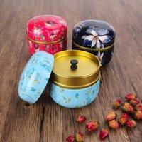 Gift Wrap Mini Metal Tin Tea Storage Boxes Caddy Round Shape Sealed Jar Coffee Container Wholesale