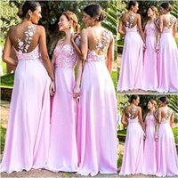 Bridesmaid Dress A Line 3D Floral Appliques Ball Gown Dresses Chiffon Evening One-Shoulder Sleeveless Prom Party