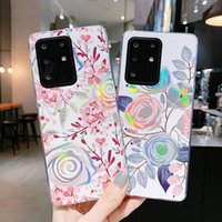 Flower Laser Back Phone Cases Cover For Samsung Galaxy S21 Plus S20 FE Ultra Note 20 Note20Ultra Note10 Pro S10 S10P S8 A10 A20 A30 A50 A20S M10