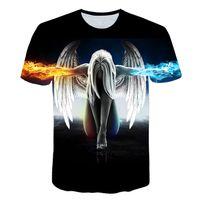 Big yards New Fashion Brand T-shirt Men Women Summer 3d Tshirt Print angel T shirt Tops Teessoccer jersey