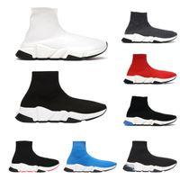 2021 الفضلات مصمم جورب الأحذية سرعة 1.0 2.0 المدربين النساء الرجال العدائين تمتد متماسكة منتصف أحذية رياضية عارضة الأحذية منصة صلبة ملونة مع صندوق الأحذية
