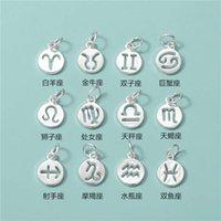 necklace S925 Sterling twelve constellations round brand accessories Handmade Bracelet