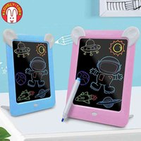 3D Magic Drawing Pad Led Electronic Light Writing Message Handwriting Board Creative Art With Pen Children Painting Set Toys H1009