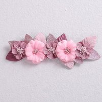 Hair Accessories Fashion Stitching Flower Headbands Baby Girl Artificial Floral Bands Pography Prop Infant Kids Headwear