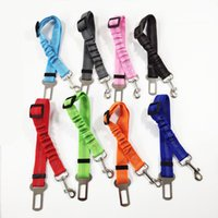 Dog Apparel Upgraded Seat Belt Car Seatbelts Adjustable Pet For Vehicle Nylon Safety Belts Elastic & Reflective