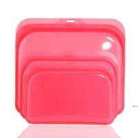 3 قطع أكياس سيليكون حقيبة تخزين الأغذية ختم حافظ الغذاء حقيبة سيليكون حقيبة الغذاء مناسبة للثلاجات، أفران الميكروويف HWA4337