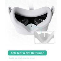 Silicone Eye Mask Pad Capa Caso Drone Máscara de Olho para Oculus Quest 2 All-in-One VR Óculos Lidar com Acessórios Drone 4K Profesion