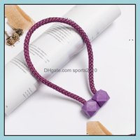 Other Décor & Gardenother Home Decor 2Pcs Curtain Tieback Mtifaceted Ball Magnetic Curtains Buckle Tie Backs Shower Holder Wall Balls Room H