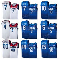 Team National Team Basketball Jerseys 2020 USA Summer Olympics 9 Jerami Grant 11 Kevin Love 13 bam Adebayo Draymond Verde Jrue Holiday Khris Middleton American Hombres Jóvenes