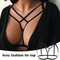 Kadın Strappy Koşum Kafes Sutyeni Oymak Sutyen Erotik Cüpsüz İç Çamaşırı Kadın Kızlar için @ 88 Sütyen