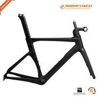 إطارات الدراجة UD الأسود إيرو الصينية كامل ألياف الكربون الطريق سباق دراجة الإطار قرص الفرامل di2