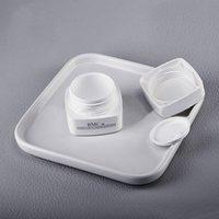 Weiße PP Kosmetische Gläser Quadratische Plastikflasche Lippe Balsam Augen / Gesichtscreme Container BPA frei (ohne Logo) 30g 50g GWF5863