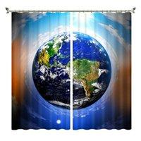 الستار الستائر بابون الأرض الطباعة تظليل diy الكوكب الإبداعي 3D بو