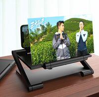 Katlanır Büyütülmüş Telefon Ekran Büyüteç Mobil Standı Braketi Tutucu Radyasyon Göz 3D HD Video Hücreli Tutucular