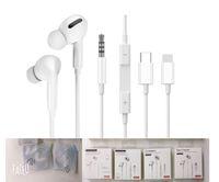 3 generosos fones de ouvido de baixo poderosos com fio Versão Bluetooth HD Fone de Ouvido Headphone Profissional Tuning Earbuds Adequado para Lightning Type-C Interface com janela pop-up