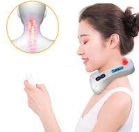 Boyun masajı servikal yoğurma darbe fizik tedavi masajı, terapötik aparat uzaktan akıllı ses