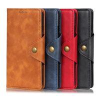 カードスロットフリップブックボタン財布の電話ケースPUレザークレジットiPhone 12 11 Pro Promax X XS MAX 7 8プラスケースカバー