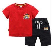 Clothing Sets Children's T-shirts Suits Summer Boy Girl 2 Pcs Cotton Short Sleeve Tops Tee+Pants Kids Dorp
