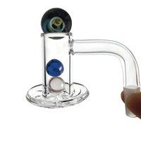 Od 20mm bilhete borda liquidificador spin quartzo banger unhas 10mm 14mm macho 45 90 graus com girador tampa de vidro mármore rubi pérolas para plataformas