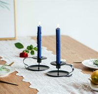 Supporto per candele Stand Vintage Style Retro Style Look Classic Look Taper Candelsick Holder Iron European Style Candlestick OWD10418