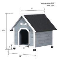 Casas de perros Cama al aire libre para mascotas Villa de villa de madera maciza Estilográfico Familia a prueba de intemperie de tamaño mediano impermeable