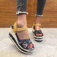 Sandals 2021 Women Thick Bottem Platform Ladies Heel Summer Shoes Female Height Increasing Beach Casual Sandalias