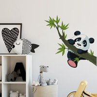 Wall Stickers Cute Panda Pattern Heart-shaped For Kids Room Ins Home Decoration Self-Adhesive
