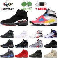 Scarpe da pallacanestro da uomo 2021 Top Fashion Jumpman 8 8s Sneakers Chrome Countdown Pack Alternato Bred Playoff Snowflake Cool Grey GS Take Flight Sports Trainer Retro