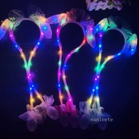 Party Favor Christmas Sequin luminous Ear Moving Hat pinch will move the rabbit ear luminous hair hoop T2I52796