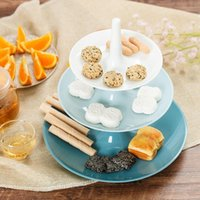 Dishes & Plates Three-Layer Fruit Dish Epoxy Resin Mold Tea Tray Silicone Molds Storage Mould For DIY Dessert Display