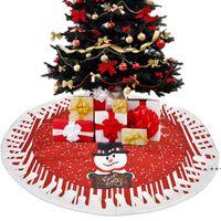 شجرة عيد الميلاد تنورة الأشجار الديكور حصيرة عيد الميلاد ثلج الرنة زخرفة المنزل عطلة مهرجان حزب ديكورات FWE9578