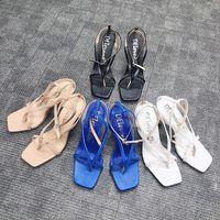Dress Shoes 2021 Women Pumps Fashion Party Wedding Sandal Super Square High Heel Pointed Toe Ladies For Woman Elegant Slipper