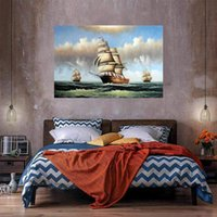 Sailing Ships Home Decor Customization is acceptable Oil Pai...
