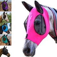 Costumes de chat Horse Mosquite Head Head Cover Summer respirant ANTI Confortable pour Farm Animal Fournitures