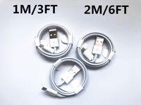 100ピース/ロット7世代オリジナルOEM品質ケーブル1M / 3FT 2M / 6FTマイクロUSBデータ同期チャージケーブル小売箱