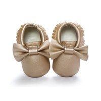 First Walkers Baby Girls Zapatos Tassels PU Cuero Impermeable Nacido Mocasín Infantes Suave Prewalker 18 Colores