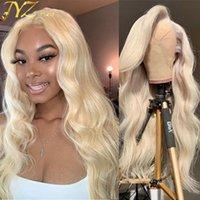 Jyz # 613 Блондинка Полное кружева Человеческие Волос Парики 613 Блондинка Кружева Фронтальные Фронтальные Парики Человеческие Волосы Бразильская Девственная Волна Волна Волны Кружевные Фронтальные Парики