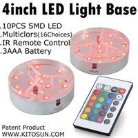 Smart 4Inch LED Vase Flasche Tisch Licht Basis RGB Multi Colors mit Fernbedienung für Hochzeitsfest-Dekoration oben