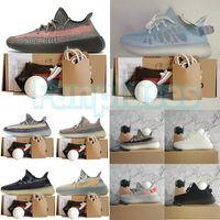 yeezy 350 yeezys yezzy Con caja Kanye West Zapatillas para correr Ash Blue Zyon Stone Carbon Israfil Zapatillas de deporte para hombre Zapatillas de deporte para mujer Diseñadores