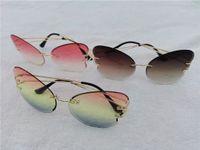 Schwarz Rosa Blaue Brille Stern im Freien Fahrer Sonnenbrille Reise Strand Mode Schmetterling geformt