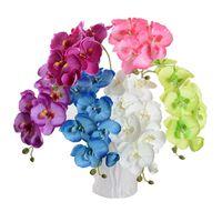 Dekorative Blumen Kränze Schöne DIY Phalaenopsis Künstliche Schmetterling Orchidee Seide Blume Blumenstrauß Hochzeit Wohnzimmer Dekoration
