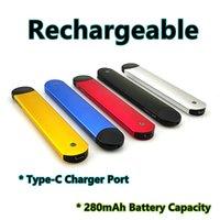 FOAIO Disposable Vape Pen 280mAh Rechargeable Dab Rig Battery 1.8ohm Ceramic Coil 1Gram Thick Oil Vape Carts Pod NO LEAKING
