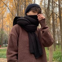 Scarves Warm Scarf Men's Fashion Boys' Gift Birthday Fashionable Wool Young People Winter Lovers Knitted Wrap Apparel