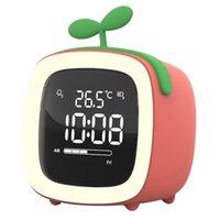 Inne zegary Akcesoria Cute Digital Budzik Dla Dzieci Kobiety Toddler Night Light, Dimmer, Akumulator, Kryty Temp Sypialnie