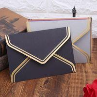Geschenk Wrap 10 stücke Retro Vintage Leere Handwerk Papier Umschläge für Brief Grußkarten Hochzeit Baby Dusche Party Einladungen 17.5x12.5cm C26