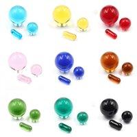 DHL Colorful Quartz Pearl Pill Set OD 12mm 20mm Insert Smoking Spinning Dab Bead Ball 6*15mm Capsule For Nail Banger Oil Rig Terp Slurper